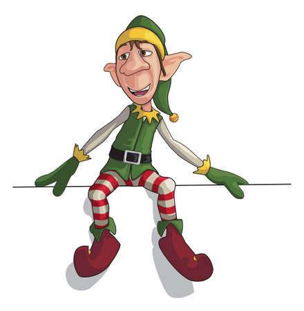 cartoon elfe: Weihnachtsmann