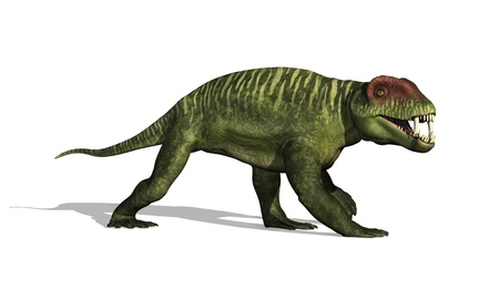 lived: The Doliosauriscus dinosaur lived in Russia during the mid-permian period - 3D render  Stock Photo