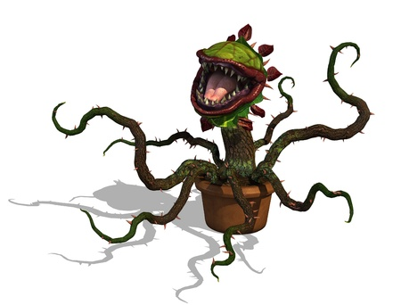 render: A very hungry Carnivorous plant - don Stock Photo