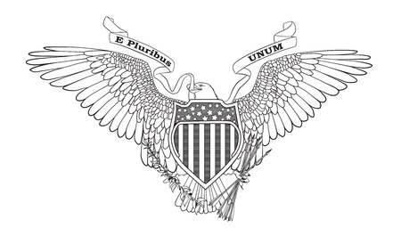 great: Great Seal of the USA - vector illustration  Illustration