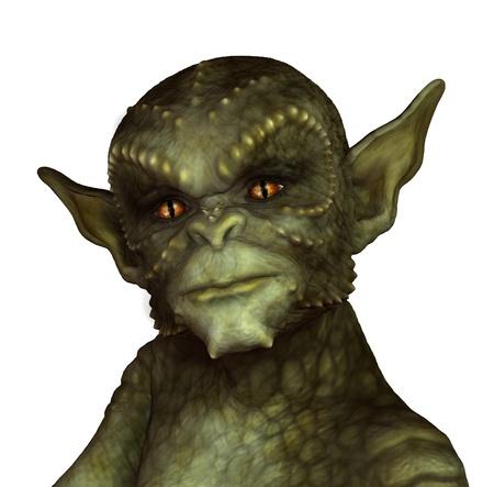 gargouille: Un alien vert ou gargouille