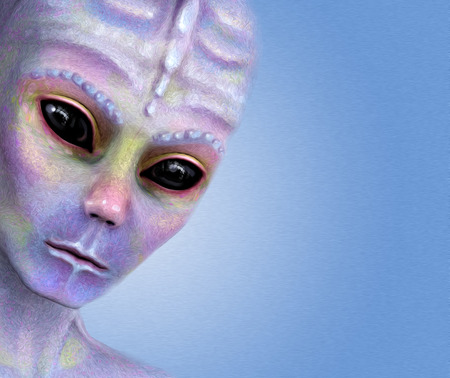 colorful alien face