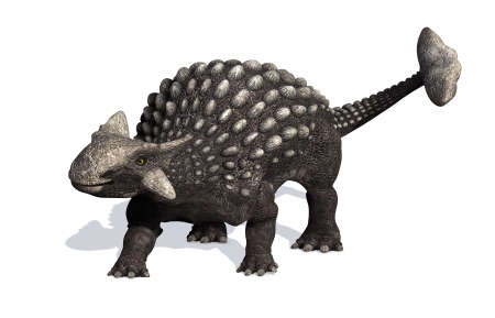 cretaceous: The Ankylosaurus dinosaur lived during the Cretaceous period - 3D render.