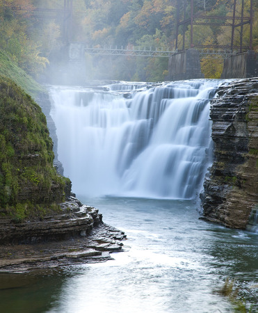 state park: The upper Falls at Letchworth State Park.