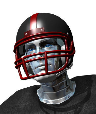 Football robot portrait  the future of professional sports. photo