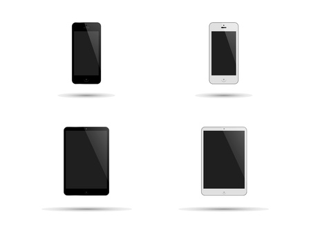 bezel: Smartphones and Tablet-PC in Black and White