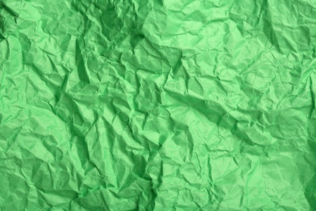 scrunch: Green wrinkled paper useful for backgrounds Stock Photo