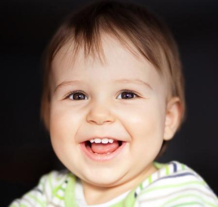 Portrait of beautiful child smiling photo