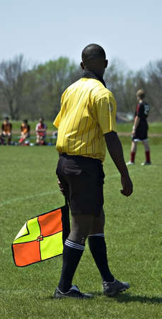 Soccer official at a soccer game Stock Photo - 910310
