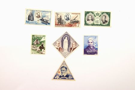 postes: Collection of isolated postage stamps from Monaco