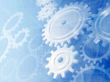 desktop wallpaper: Blue gears engineering technology backdrop.