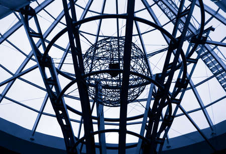 geosphere: Hi tech metal wire architectural detail Stock Photo