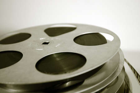 classic contrast: 16mm celluloid movie reels