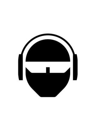 earbud: Earphonehead  Vectores