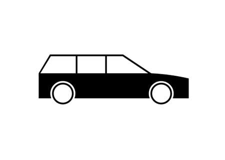 car side view: Pictogram of a combi car - side view. Illustration