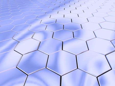 Hexagonal chromic surface. Stock Photo