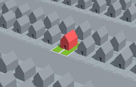 perspectiva lineal: Seleccione su casa.