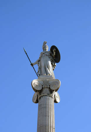ionian: Armoured Athene on ionian column.