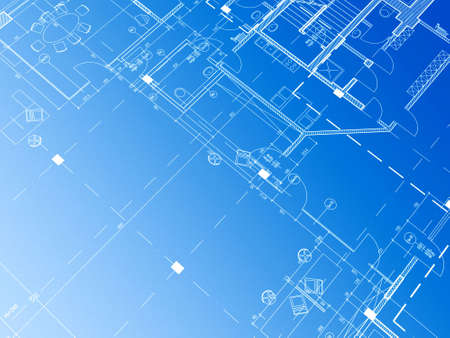 building blueprint: Technical cad documentation architectural background