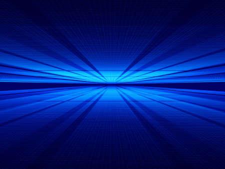 lejos: Dos hilos misteriosos y superficies de iluminaci�n muy a la zaga. Imagen generada por ordenador.