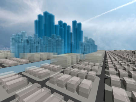 land owner: Computer generated 3d city model