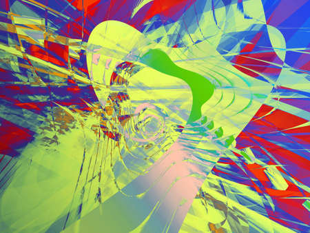 disco era: Dynamic colorful curves and lines abstract