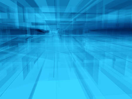 unreal: Abstract geometric architectural structure background Stock Photo