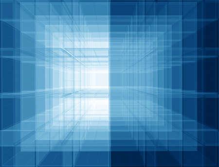 perpendicular: Priorit� bassa geometrica degli schermi spaziali trasparenti Archivio Fotografico