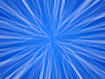 Digital transparent white trails on blue background  photo