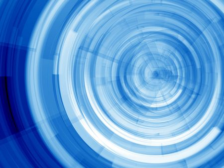 computer generated image: Blue Virtual whirl - computer generated image