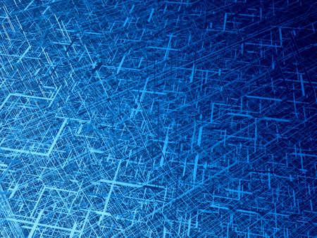 perspectiva lineal: Azul profundo alambre textura 3d