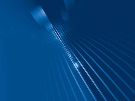 perspectiva lineal: Resumen azul generado por ordenador en 3D de fondo