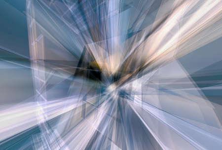 modernity: Glass curtain wall deconstruction - 3d digital artwork