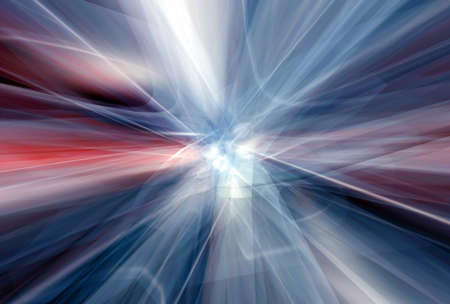 implosion: Red white trails escaping the core