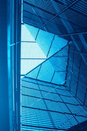 perspectiva lineal: Contempor�neo de alta tecnolog�a de construcci�n detalle