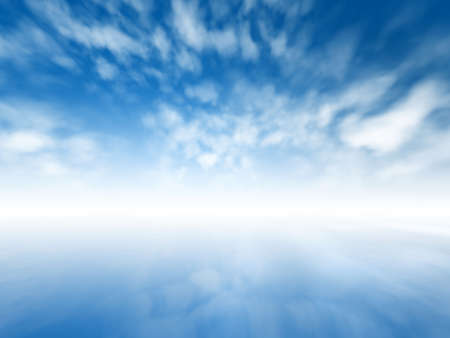lack of water: Blurred misty abstract infinite sky