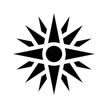 graphical: Graphical representation of an ancient greek symbol, Vergina star