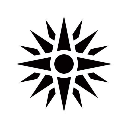 Graphical representation of an ancient greek symbol, Vergina star Stock Photo - 16034619