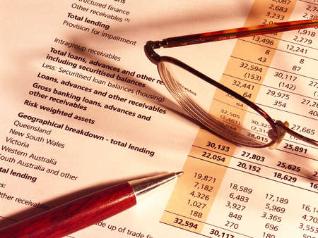 R�sultats financiers Banque d'images