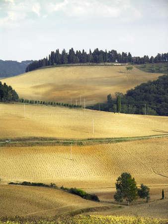 Pays paysage de la Toscane, en Italie