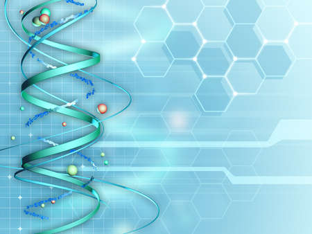 biochemistry: Background suitable for medical and research subjects. Digital illustration. Stock Photo
