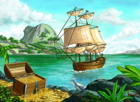 isla del tesoro: Pirata Foto de archivo