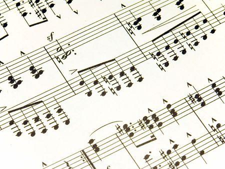 D�tail de feuille de musique