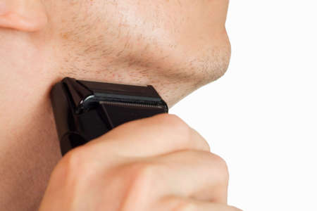 manhood: Clean shave with electric razor