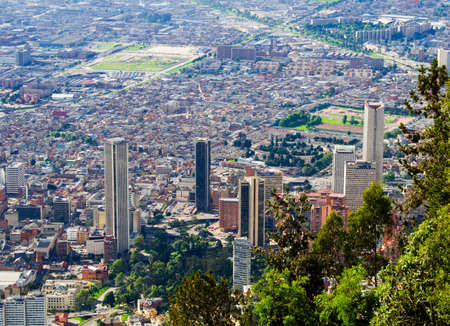 colombia: Bogota downtown. Colombia. Skyscrappers. Landscape panorama