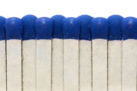 blank bomb: Souvenir matches. Extreme close-up. Isolated over white Stock Photo