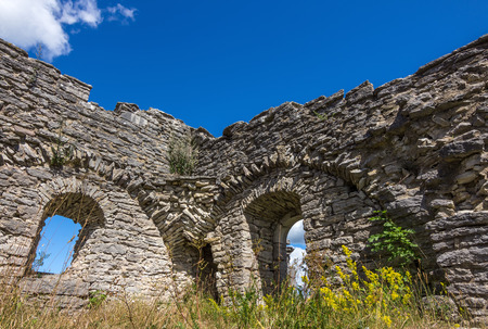 stone work: Ruins of an ancient church on the island of Gotland, Sweden