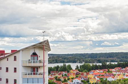 residential neighborhood: Bright residential neighborhood surrounded by nature  Modern living