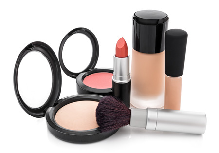 concealer: Makeup for natural look  Foundation, concealer, face powder, blush, lipstick, brush