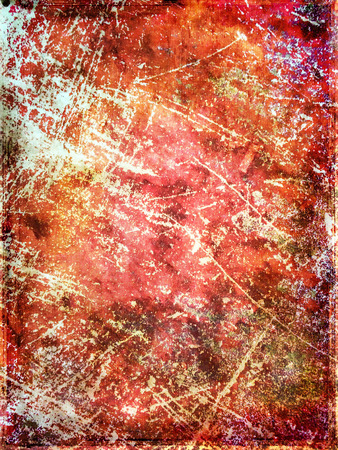 wornout: Red scratched grungy background. Detail of worn-out fabric.